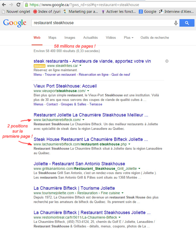 Comment �tre en premi�re page sur Google !